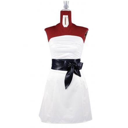 Nina womens black leather Obi Belt high waist belt