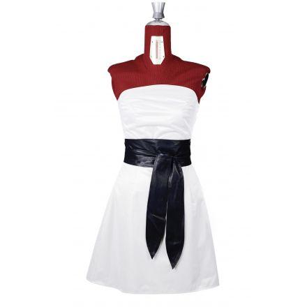 Olivia womens black leather Obi Belt high waist belt