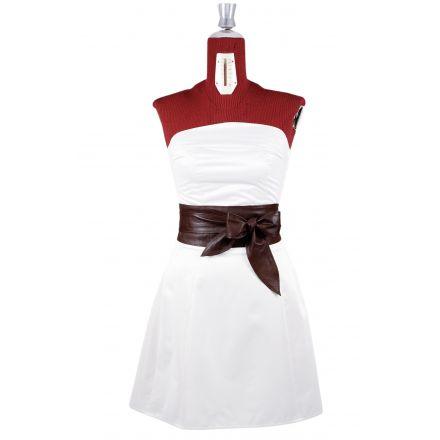 Quake womens brown leather Obi Belt high waist belt
