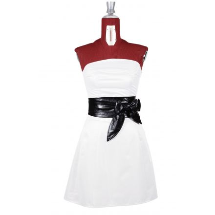 Sandra womens black leather Obi Belt high waist belt
