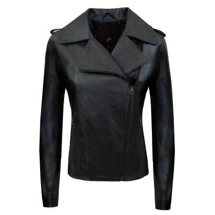 Oxford black leather winter Biker Jacket biker basic