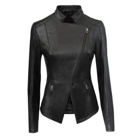 Valeria black leather summer Jacket smart and original