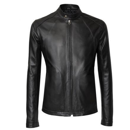 Pescara black leather winter Jacket Japanise style