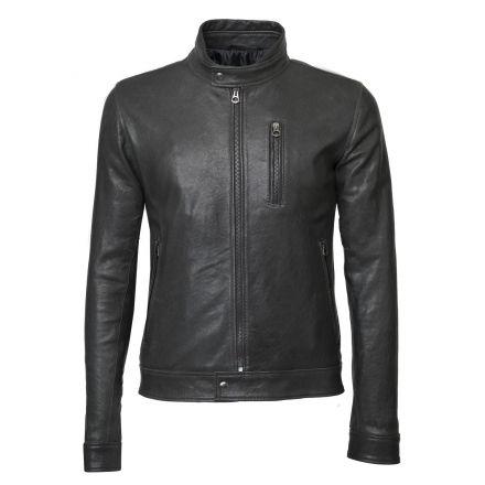 Tokyo black leather winter Jacket biker basic