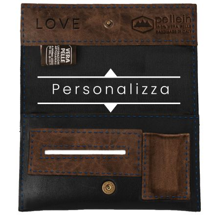 Handmade customizable genuine leather tobacco pouch