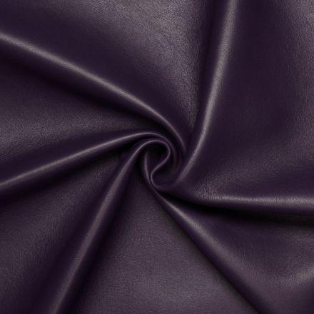 Medium purple Lamb / Mutton leather Indigo Violet with Monochrome Smooth effect