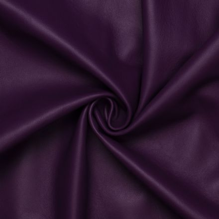 Dark purple Lamb / Mutton leather Magnetic Purple with Monochrome Smooth effect