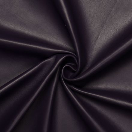 Dark purple Lamb / Mutton leather Eggplant with Monochrome Smooth effect