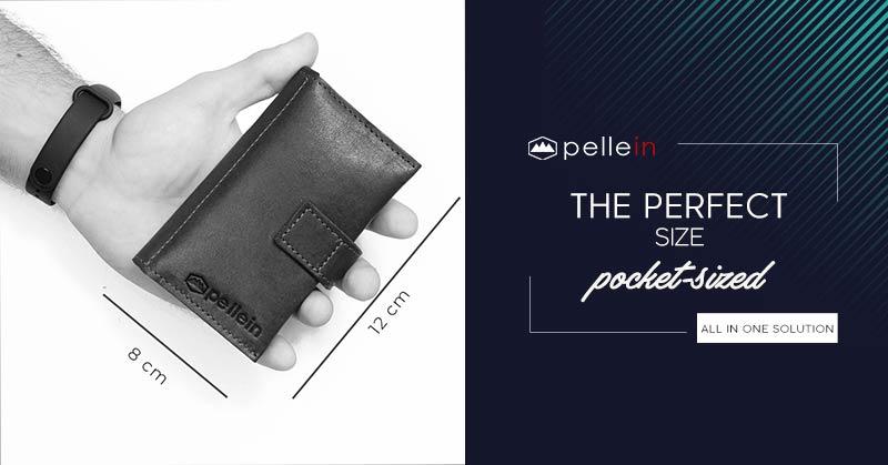 mini real leather tobacco pouch Leggendario dimensions pocket size