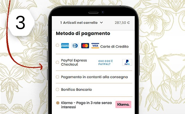 2 step pagamento a rate
